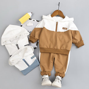 Image 1 - Kid Boy clothing Set Hooded for Baby Clothes Tracksuit Autumn Spring Toddler Sport Zipper Outfit Suit 1 2 3 4 Years