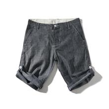 2019 Men's linen shorts Male summer cotton beach s
