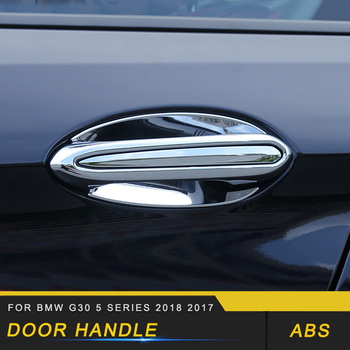 For BMW G30 5 Series 2018 2017 Auto Car-styling Door Handle Door Bowl Frame Trim Cover Stickers Exterior Accessories