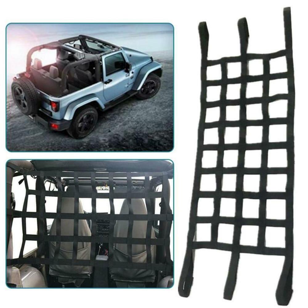 For Jeep Wrangler JK TJ Car Cargo Net Back Window Extra Storage Roof Net Hammock