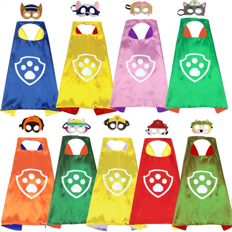 Paw Patrol Kids Toys Set Mask Cape Cloak Cosplay Cartoon Paw Patrol Birthday Gifts Christmas Halloween Party Decoration Toy