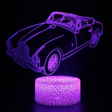 Automobile 7 Color Change Led Night Light Led Color Changing Light Led Night lamp Decor Color Changing Table Lamp Lights