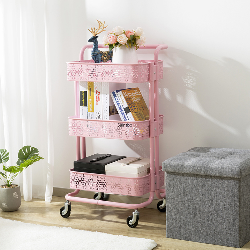 Per la casa in metallo piccolo carrello retro vuoto modello rack di stoccaggio soggiorno mensola della cucina organizzatore camera organizzatore - 4