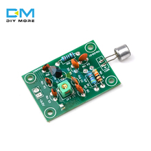 Odbiornik FM moduł nadajnika Mini mikrofon bezprzewodowy Ham regulacja częstotliwości radiowej regulowana płyta dźwiękowa 3V 5V DC DIY Kiy