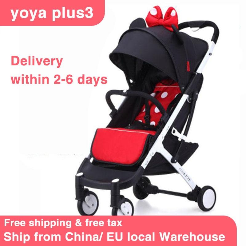 YOYAPLUS 3 Baby Stroller 5.8kg Light Stroller Fold Umbrella Carts  Bebe Stroller Newborn Carriage Travel Baby Pram Free Shipping