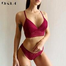 Mới Cô Gái Trẻ Liền Mạch Áo Vest Bộ Áo Ngực Plus Size 38 36 Siêu Mỏng Nữ Cotton Quần Lót Ren Thêu Bộ Đồ Lót đen