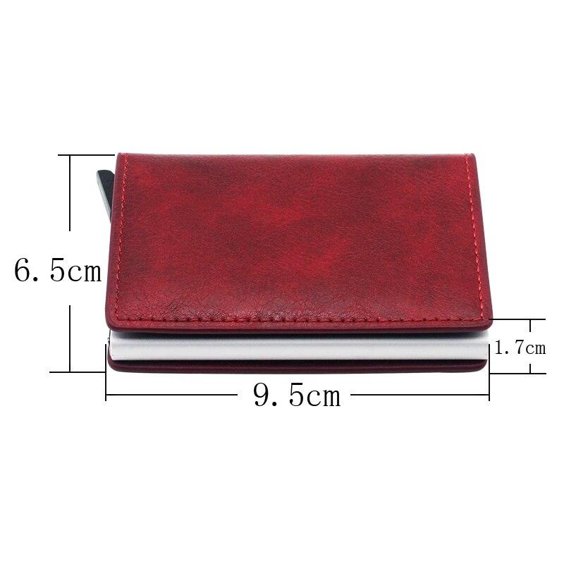 Classic Fashion Wonder Woman Design Card Holder Wallets Men Women Rfid Leather Short Purse Slim Mini Wallet Small  Money Bag