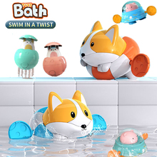 Floating Pig Bathtub Educational Toys For Baby Swimming Cute Dog Toys For Bathroom Animal Bath Toys For Kids Baby Water Games