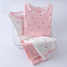 95% cotton height 90-150cm  Thermal Underwear Kids Clothes Girls 1070
