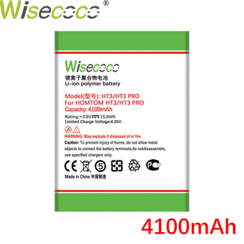 Wisecoco HT3 4100mAh Battery For Homtom HT3 HT 3 Pro Phone Battery Replacement + Tracking Number image