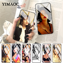 YIMAOC selena quintanilla Customer High Quality Glass Case for Xiaomi Redmi 4X 6A note 5 6 7 Pro Mi 8 9 Lite A1 A2 F1