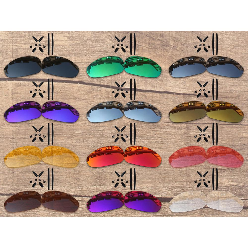 Vonxyz 20+ Color Choices Polarized Replacement Lenses & Nose Pads Ear Socks Rubber Kit for-Oakley Juliet Frame