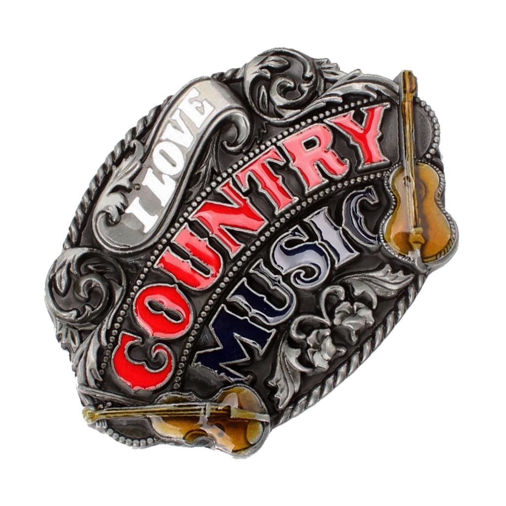 Cool Man Country Belt Buckle Music Guitar Western Countryside Rodeo Cowboy Buckle пряжка для ремня Belt Buckles For Men