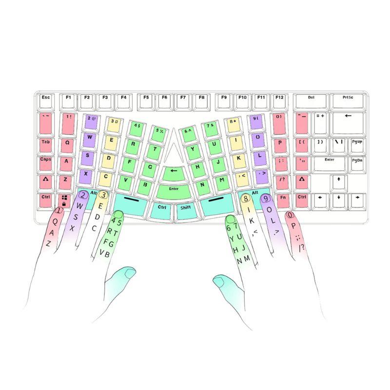 Clavier ergonomique mécanique de jeu USB type-c 86 touches câblées pour Microsoft HP LG PC tablette d'ordinateur portable