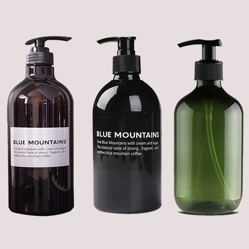 Shampoo Shower Gel Press Bottle Hair Conditioner Body Wash Liquid Empty Bathroom Dispenser Soap Bottles Refillable 250/300/500ML