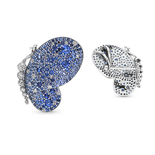 Butterfly Brooch Jewelry Ones-Friends Luxurious Blue New And for Loved Charming Pave