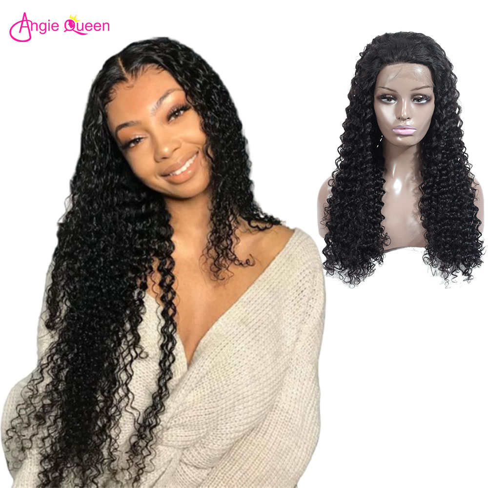 Angie Queen Deep Wave Wig 360 Lace Frontal Wig For Women 100% Remy Human Lace Front Human Hair Wigs Brazilian Hair Wig Outlet