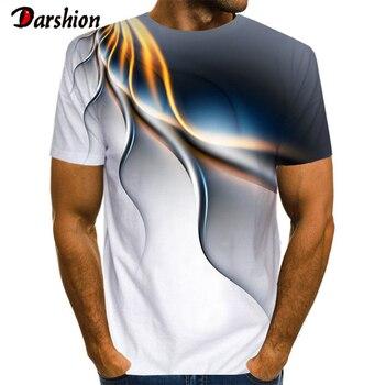 Popularny męski T-shirt z krótkim rękawem 3D z nadrukiem błyskawica T-shirt z wyjątkowo kroplami deszczu luźny O-neck letnie ubrania męskie