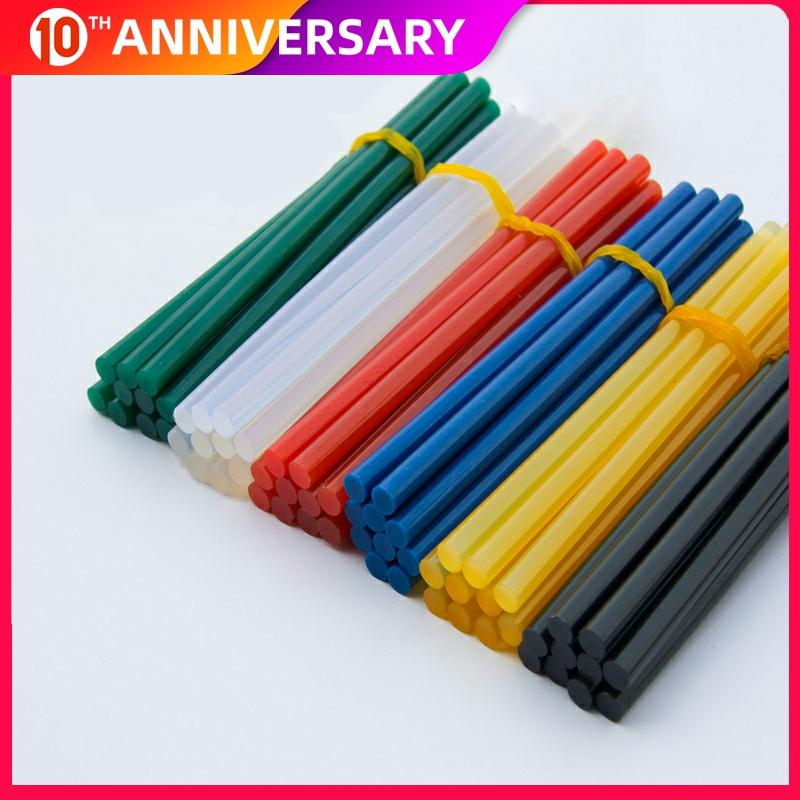 Color Glue Stick 10pcs 7/11x270mm Hot Melt Glue Stick 7mm/11mm Diameter Household DIY Industrial Hot Glue Stick