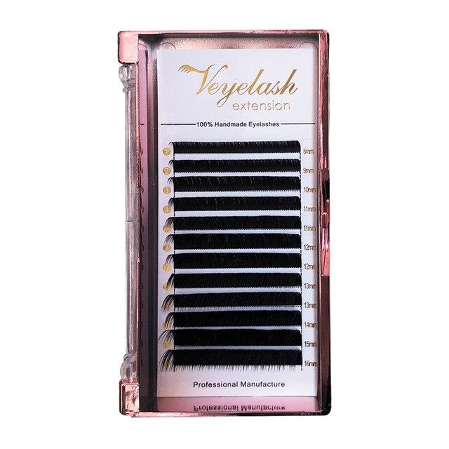 Veyelash Custom Your Logo Individual Eyelash Extension Silk Lashes Russian Volume Classic Eyelash Extensions 3