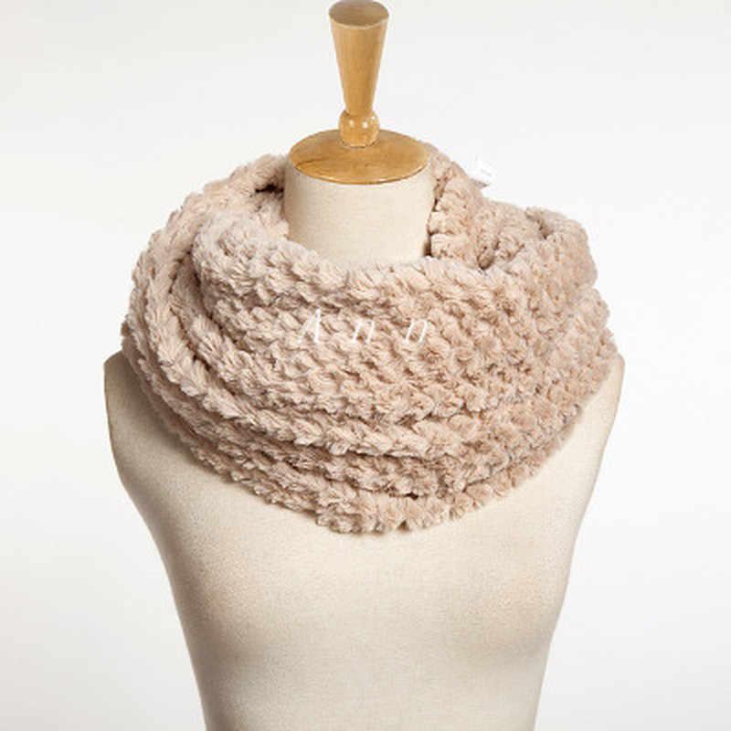 따뜻한 캐시미어는 여성을위한 겨울 스카프를 감쌌다 니트 스카프 Womens Blend Circle Collar Scarf Shawl Collar Wrap