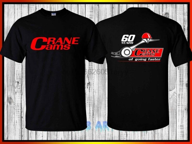 Crane Cams Logo Retro Style Racing Vintage Men/'s Black T-Shirt S M L XL 2XL 3XL