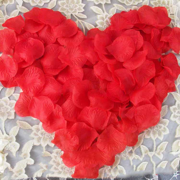 Dressv Rose Nonwovens Petals Wedding Decoration Artificial Flowers Home Decor Engagement Celebrations Party Decoration