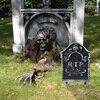 Halloween Decoration 1pcs Horror Plastic Tombstone Fake Tomb Halloween Skeleton Props Gravestone Halloween Home Garden Decor