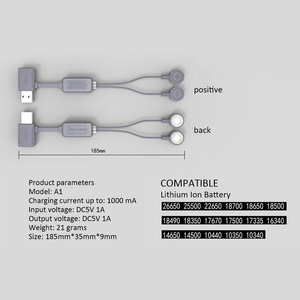 Image 2 - 18650 Battery Charger for Li ion Batteries Multifunction Magnetic USB Charger Mini Charging/Discharging Power Bank No battery