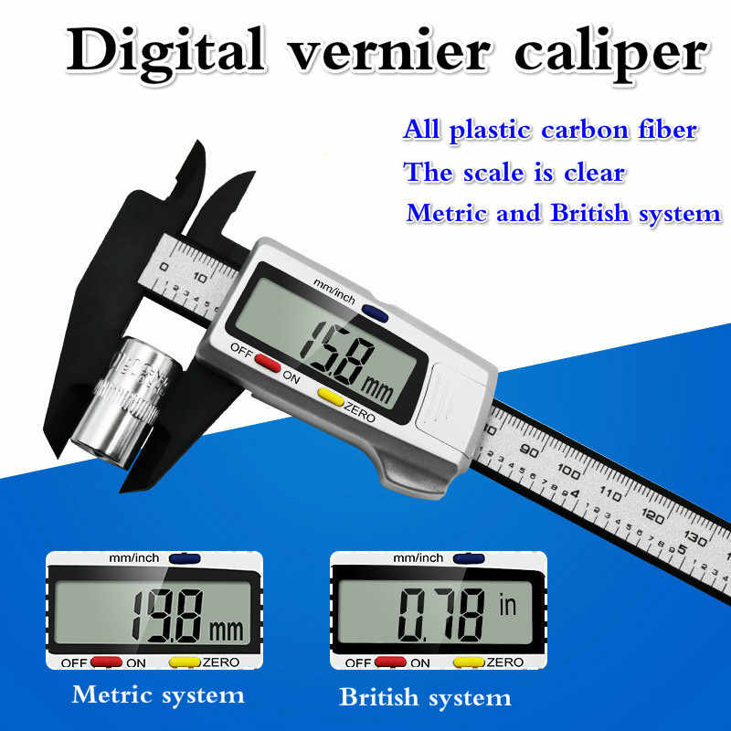 150mm Sliding Vernier Caliper Plastic Measure Ruler Gauge Dual Scale AR