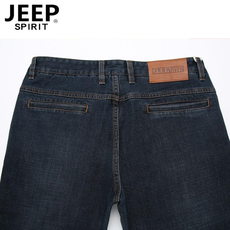 JEEP SPIRIT/Брендовые джинсовые брюки, мужские повседневные Прямые осенние джинсы со средней талией, мужские черные и синие джинсы, большие размеры 30-44, Hombre