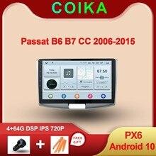 """10.1 """"אנדרואיד 10.0 מערכת רכב IPS מגע מסך סטריאו עבור פולקסווגן פאסאט B6 B7 CC GPS Navi רדיו מולטימדיה BT DSP 1280*720P"""