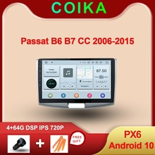 "10.1 ""Android 10.0 Systeem Auto Ips Touchscreen Stereo Voor Volkswagen Passat B6 B7 Cc Gps Navi Radio Multimedia bt Dsp 1280*720P"