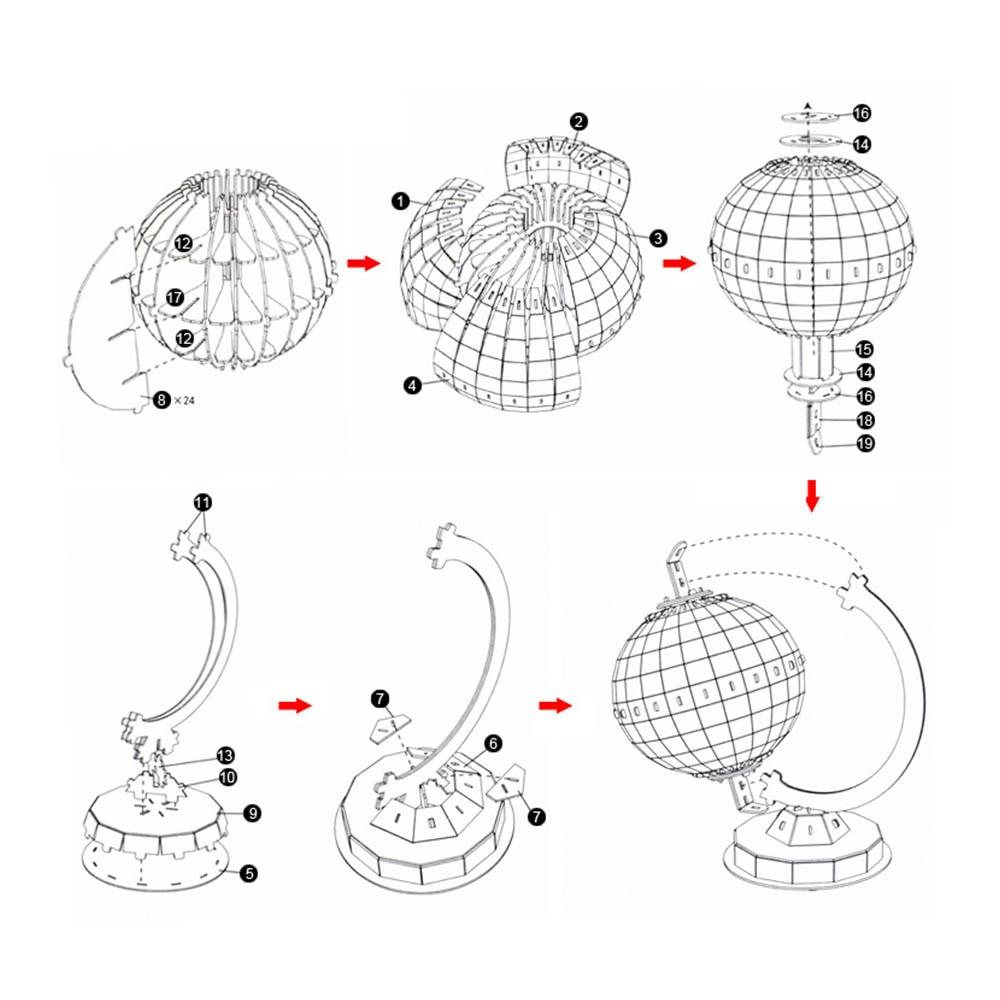 3D головоломка, модель мира, глобус, планета, собранная Детская образовательная бумага, объемные собранные игрушки для детей, детские игрушки