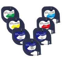 7 Pack 91201 Kompatibel Dymo Letratag Band 12Mm 91330 16952 91331 91332 Gemischt Farbe Band für Dymo Letratag Lt-100H