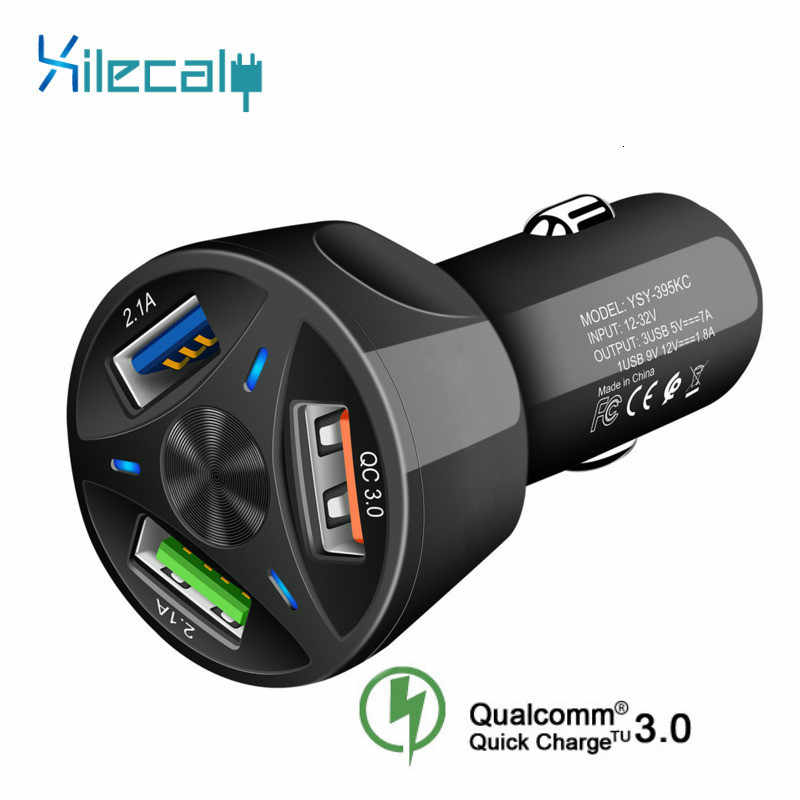 Quick Charge 3.0 Auto Oplader Voor Mobiele Telefoon Dual Usb Car Charger Qualcomm Qc 3.0 QC 4.0 Snel Opladen Adapter usb Car Charger