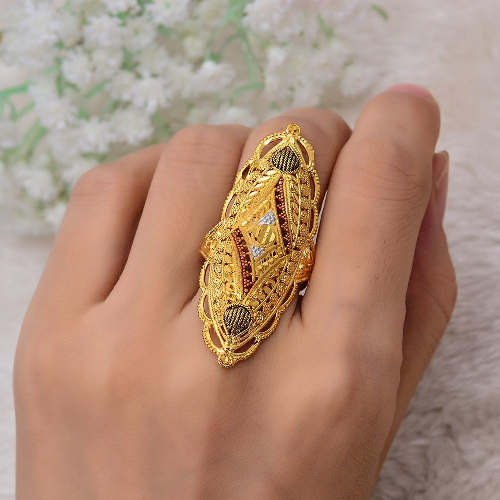 Image 3 - Wando большие кольца для женщин/девушек Ближний Восток/арабский/Дубай/Эфиопский/Африканский Свадебные украшения вечерние подарки (20 мм✖52 мм) свободный размер-in Кольца from Украшения и аксессуары