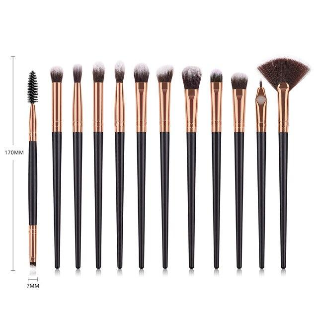 Makeup Brushes Set 3/5/12pcs/lot Eye Shadow Blending Eyeliner Eyelash Eyebrow Make up Brushes Professional Eyeshadow Brush 1