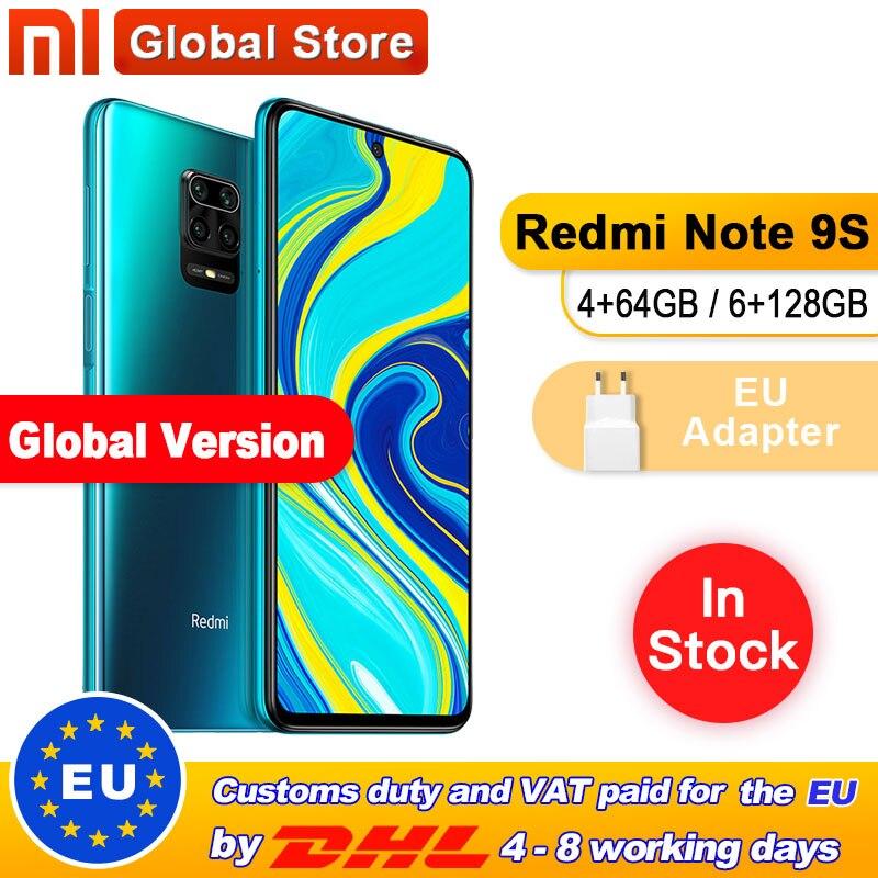 Global Version Xiaomi Redmi Note 9S 4GB 64GB /6GB 128GB smartphone Snapdragon 720G Octa core 5020 mAh 48MP Quad Camera(China)
