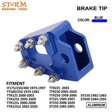 Motorrad CNC Bremse Hinten Pedal Schritt Spitze Für Yamaha IT175 250 400 TT500 TTR125 125E/L 125LE TTR225 230 TTR250 XT225 350 550 600