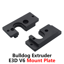 Bulldog Extruder Parts E3D V6 Hotend Aluminum Mount Plate 3D Printer Accessories J-head Fixed bracket 1 1 set m3 delta kossel fisheye effector hanging station with plate for v6 j head hotend 3d printer part
