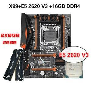 Image 1 - HUANANZHI X99 마더 보드 콤보 키트 세트 XEON E5 2620 V3 2*8G DDR4 2666 NON ECC 메모리 NVME USB3.0 ATX