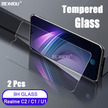 2 PCS Full Tempered Glass For OPPO Realme C2 / C1 Screen Protector 2.5D 9h tempered glass on the Realme U1 Protective Film 9h anti burst protective glass for oppo realme x 3 2 1 pro tempered screen protector glass for oppo realme u1 c1 c2 3i x glass