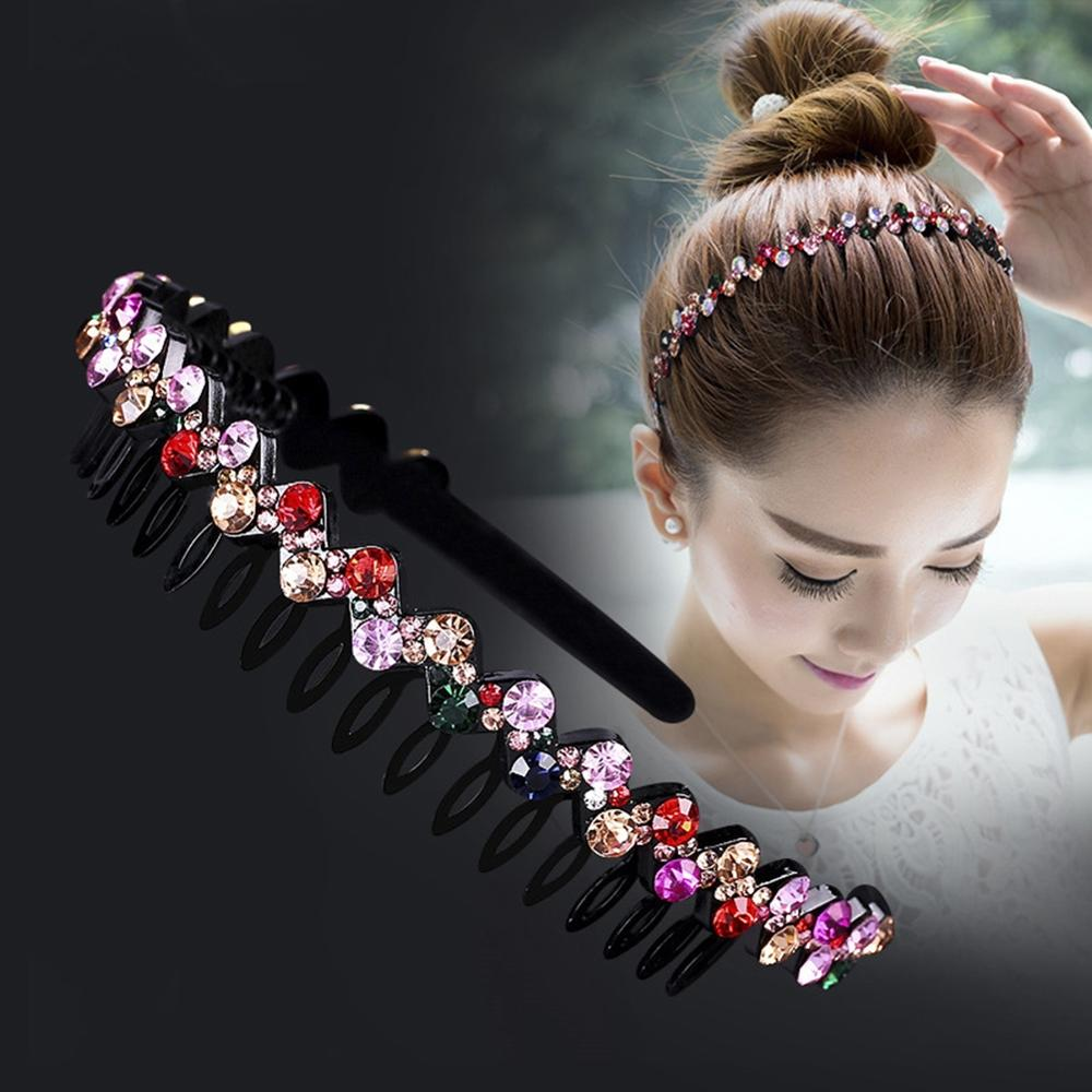 Hoop Headwear Jewelry Tiara Hair-Accessories Hairband-Hair Crystal Wedding-Hair Fashion