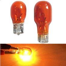 10pcs clear glass Amber T13 10W T15 W16W halogen lamp 12V 16W Interior light clearance light halogen light bulbs automotive