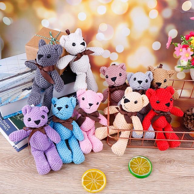 18CM Mini For Teddy Bear Stuffed Plush Toys Cute White Teddy Bears Pendant Dolls Gifts Birthday Wedding Party Decor Uncategorized Decoration Kid's Toys Stuffed & Plush Toys Toys