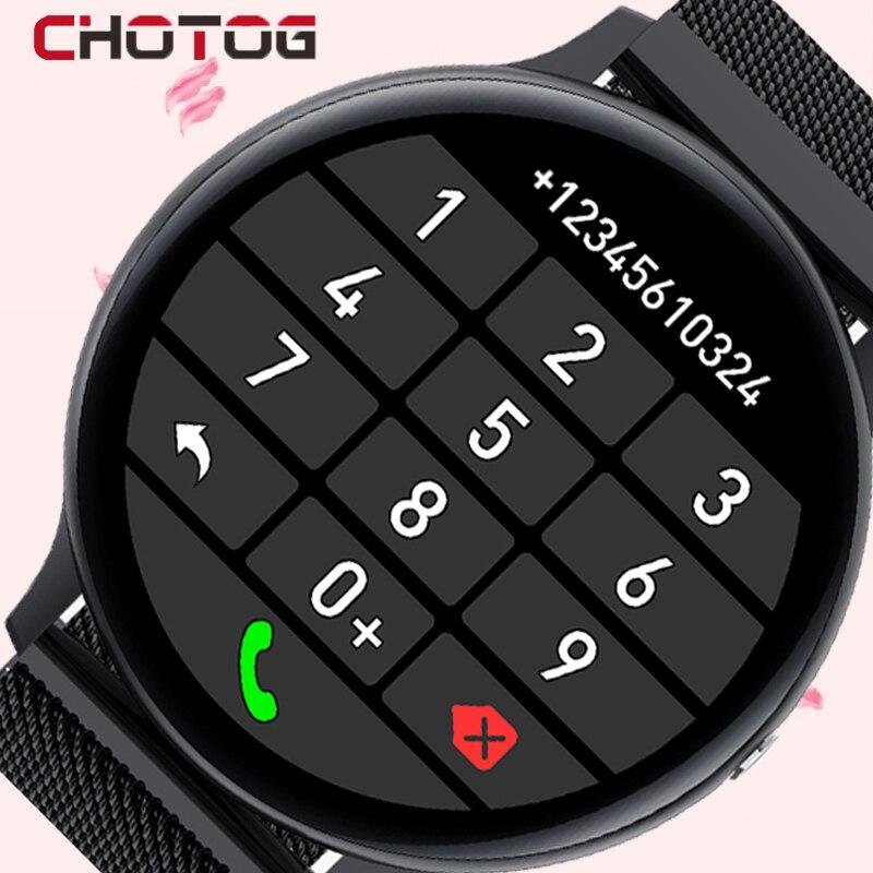 CHOTOG Смарт-часы для мужчин Bluetooth Вызов воспроизведение музыки Смарт-часы для женщин IP68 полный сенсорный Спорт фитнес-трекер для измерения се...