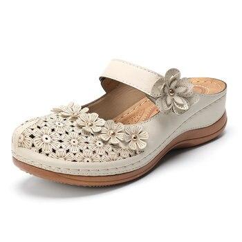 Women Sandals 2019 New Female Shoes Woman Summer Wedge Comfortable Sandals Ladies Slip-on Flat Sandals Platform Women Sandalias 2