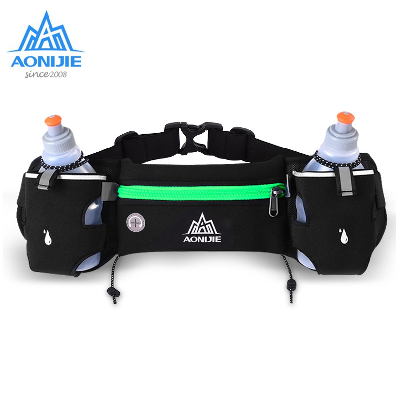 AONIJIE Waist Belt Bags Hydration Packs Adjustable Bottle Holder For Outdoor Marathon Trail Running Racing Fitness Jogging E834