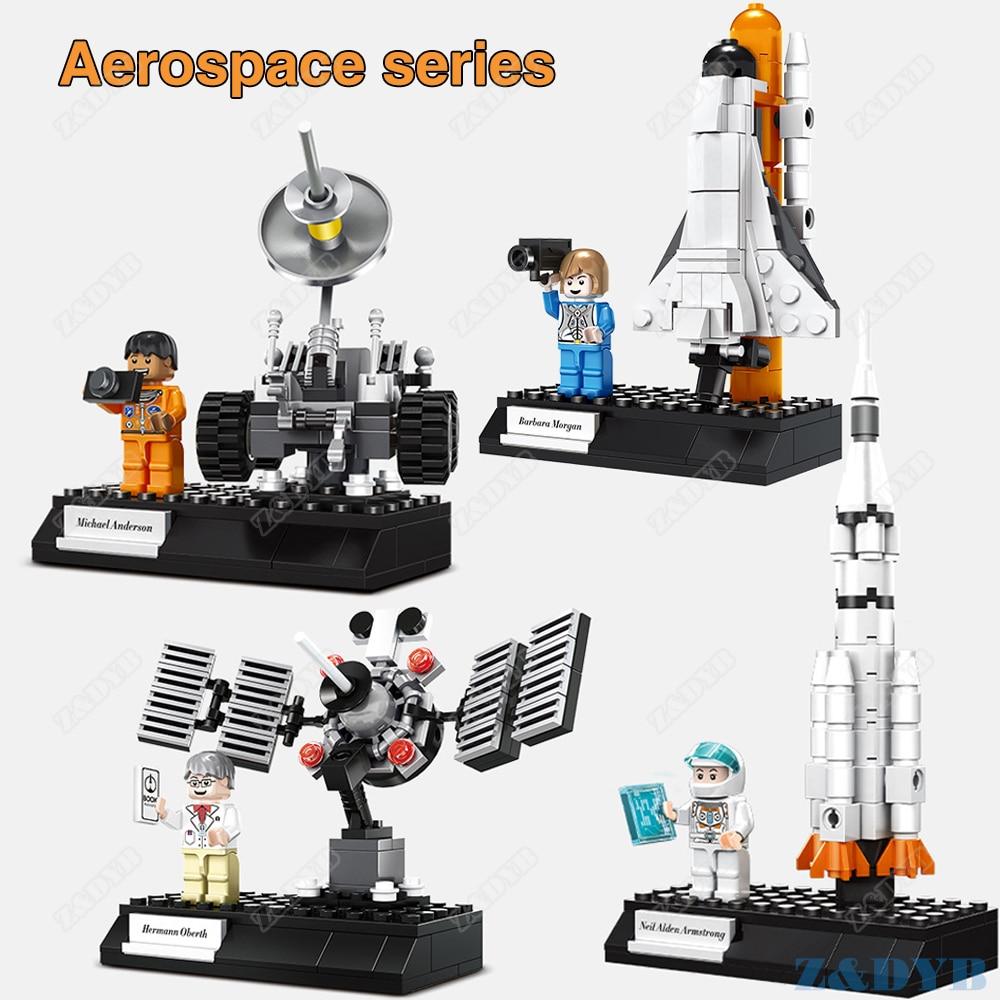 381PCS Space Shuttle Station Rocket Astronaut Launch Vehicle City Technic Educational Compatible Legoed Building Block Brick Toy